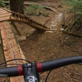 Some of the skinnies have big consequences, as well.- Mount Fromme Mountain Bike Trails: Upper Oilcan, Oilcan + Digger