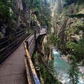 The well constructed catwalk in Johston Canyon.- Johnston Canyon Upper Falls Hike