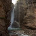 Upper Falls in Johnston Canyon, Banff National Park.- Johnston Canyon Upper Falls Hike