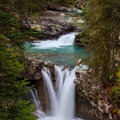 The falls cascade one after the other.- Johnston Canyon Upper Falls Hike