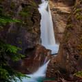 Lower Falls in Johnston Canyon.- Johnston Canyon Upper Falls Hike