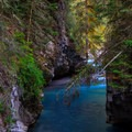 The water color is almost unreal.- Johnston Canyon Upper Falls Hike