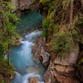 View from the catwalk.- Johnston Canyon Upper Falls Hike