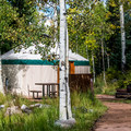 Three yurts are available to rent.- Sylvan Lake State Park