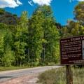 Sylvan Lake park entrance.- Sylvan Lake State Park
