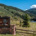 Sylvan Lake entrance.- Sylvan Lake State Park