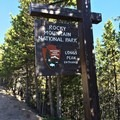 Entering Rocky Mountain National Park.- Chasm Lake Hike