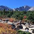 Beauty abounds with Longs Peak and Mount Meeker as the backdrop.- Chasm Lake Hike