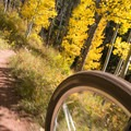 Carving lines is easy on this swift decent.- Son of Mill Creek Trail Mountain Bike Loop