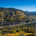 The fall colors invade Vail in late September.- Son of Mill Creek Trail Mountain Bike Loop