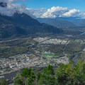 The view of the Squamish from the second peak.- Stawamus Chief Summit Trail Hike