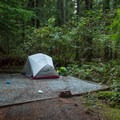 Standard bivouac type set up.- Stawamus Chief Provincial Park + Campground