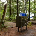 There are safe food caches through out the campground.- Stawamus Chief Provincial Park + Campground