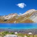 Ice Lake, wonderfully blue.- Ice Lake + Island Lake Hike