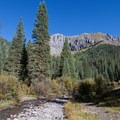 View from Clear Creek.- South Mineral Campground