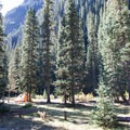 Campsite next to South Fork Mineral Creek.- South Mineral Campground