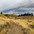 The trail varies between singletrack and rocky four-wheel drive road.- Peavine Peak Hike on Peavine Mountain