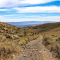 The Peavine Peak Trail.- Peavine Peak Hike on Peavine Mountain
