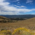 A view toward the north from just below the summit.- Peavine Peak Hike on Peavine Mountain