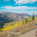 Climbing Puke Hill on the Wasatch Crest Trail.- Wasatch Crest Mountain Bike Trail