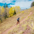 On the second climb.- Wasatch Crest Mountain Bike Trail