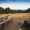 View of metro Denver from one campsite.- Sawmill Hikers Campground