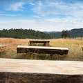 A small amphitheater is ready for use.- Sawmill Hikers Campground