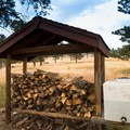 The firewood here is free and provided by Jefferson County.- Sawmill Hikers Campground