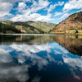 Reflections on Sylvan Lake.- Sylvan Lake Loop Trail