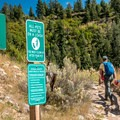 Trail markers are quite good along most of the trail.- Hunter Creek Trail