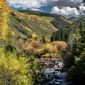 Hunter Creek below the old dam.- Hunter Creek Trail
