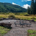 Amphitheater in Sylvan Lake Campground.- Sylvan Lake Campground