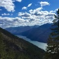 Purple Pass Trail overlooking Lake Chelan.- Purple Pass Hiking Loop