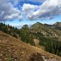 Trail heading down to Lake Juanita.- Purple Pass Hiking Loop