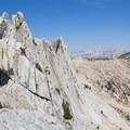 Climber traversing Matthes Crest.- Yosemite National Park
