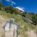Entering the Mount Olympus Wilderness.- Mount Olympus via Wasatch Boulevard Trailhead