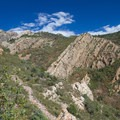 View of Tolcat Canyon about half-way up the trail.- Mount Olympus via Wasatch Boulevard Trailhead