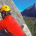 Climbing above Yosemite Valley on After Six.- Yosemite National Park