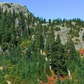 Large alpine amphitheaters spotted with fall colors.- Mount Seymour Summit Hike