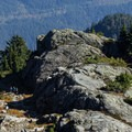 Desending from the First Peak toward Indian Arm.- Mount Seymour Summit Hike