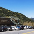 The Silver Fork Lodge.- Scenic Highway 190 to Guardsman's Pass