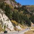 Big Cottonwood is a very popular spot for road bikers.- Scenic Highway 190 to Guardsman's Pass