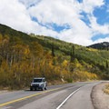 Fall colors along Scenic Highway 190 to Guardsman's Pass.- Scenic Highway 190 to Guardsman's Pass