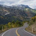 The view down canyon from Guardsman's Pass Road.- Scenic Highway 190 to Guardsman's Pass
