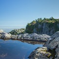 Looking back at First Peak and Second Peak.- Mount Seymour Summit Hike
