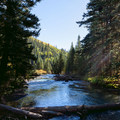 South Fork Mineral Creek behind the South Mineral Campground.- South Fork Mineral Creek