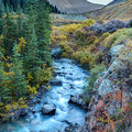 Sunset behind the creek.- South Fork Mineral Creek