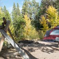 Fall is a wonderful time to camp here.- Aspen Meadows Campground