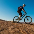 These slickrock trails are challenging and only recommended for experienced riders.- Sand Flats Recreation Area
