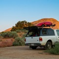 Car camping in Loop A.- Sand Flats Recreation Area